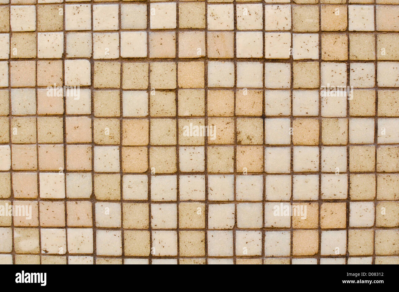 Brown Tan Mosaic Tile Background that can have text added - Stock Image