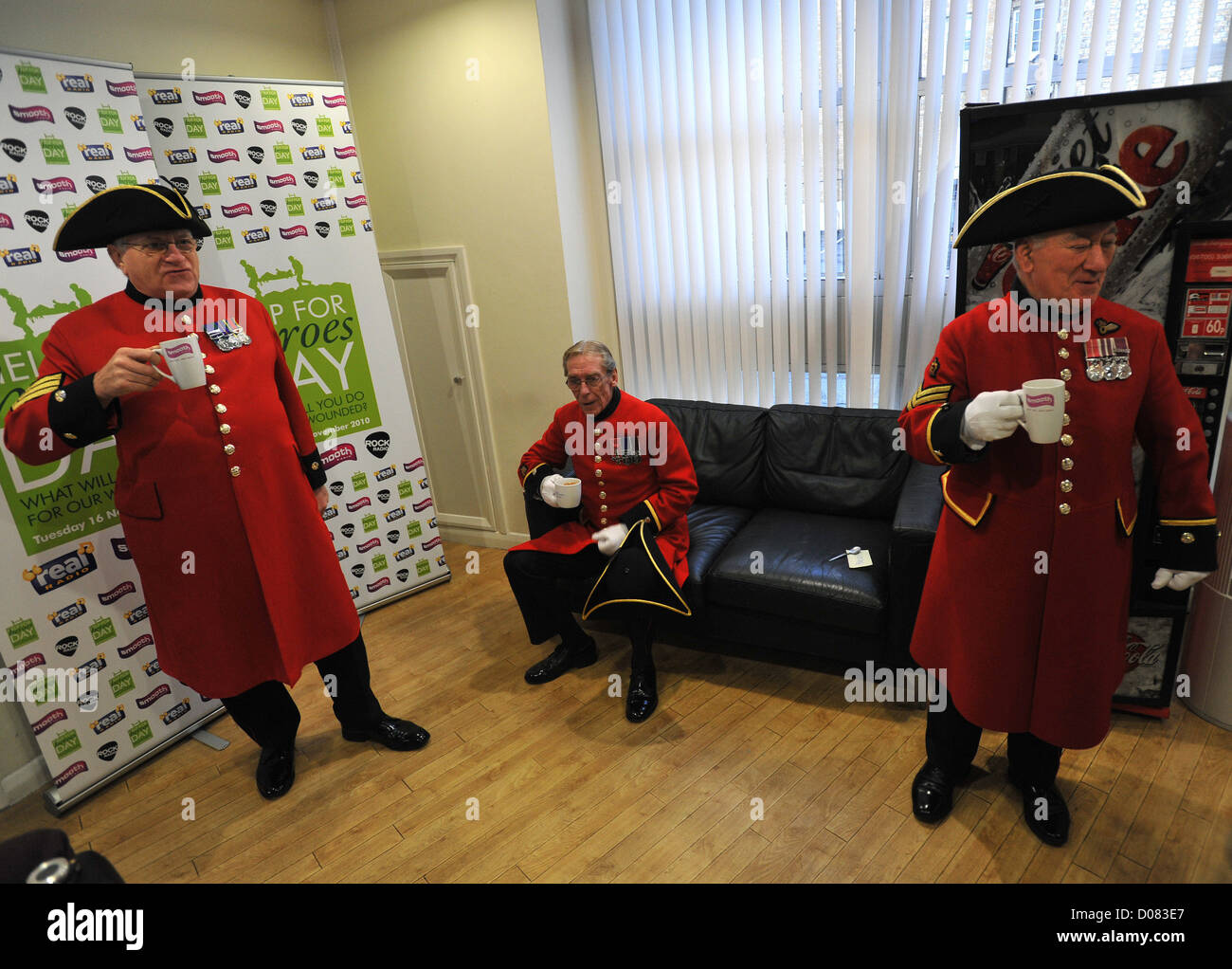 Chelsea Pensioners Help for Heroes Day at Smooth Radio  London Stock