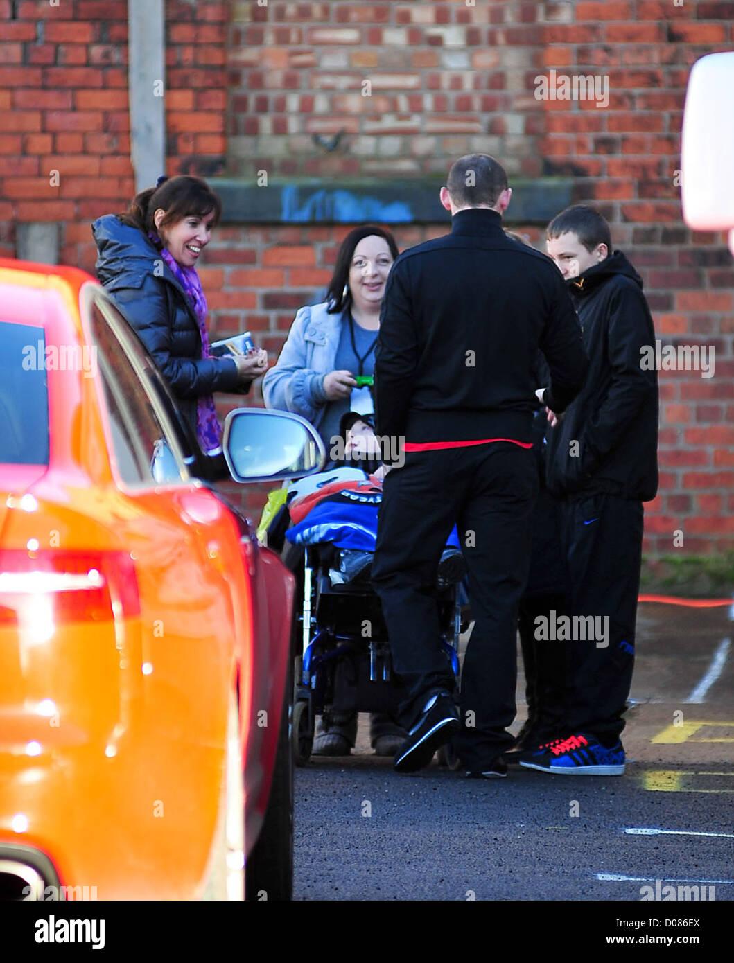 Wayne Rooney After Filming Wayne Rooney S Street Striker Manchester England Stock Photo Alamy