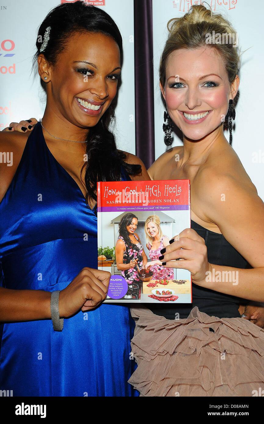 Korin Nolan, Sasha Parker, at the 'How To Cook In High Heels' book launch party held at Studio Valbonne. - Stock Image