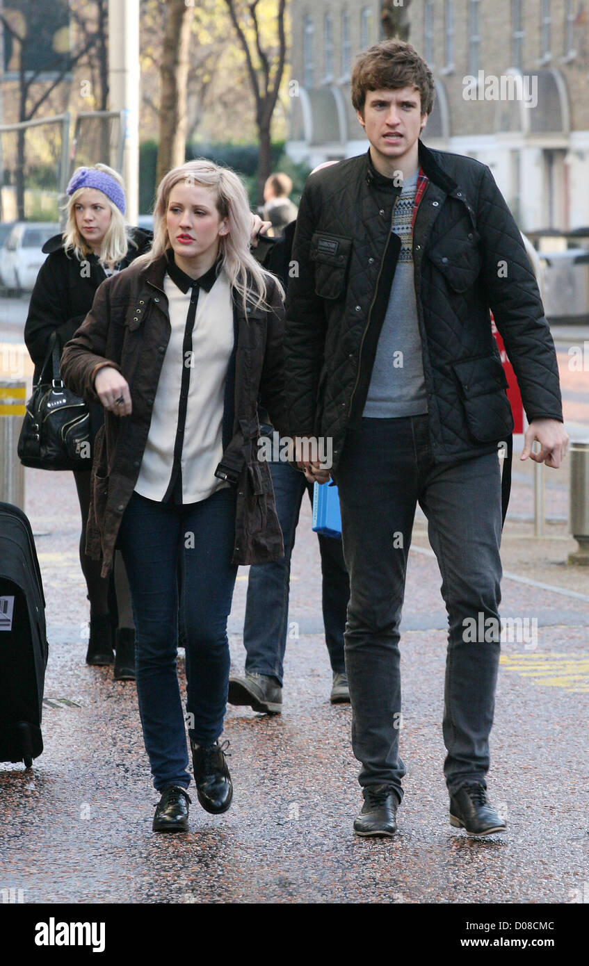 Ellie Goulding and Greg James leaving the ITV studios ...