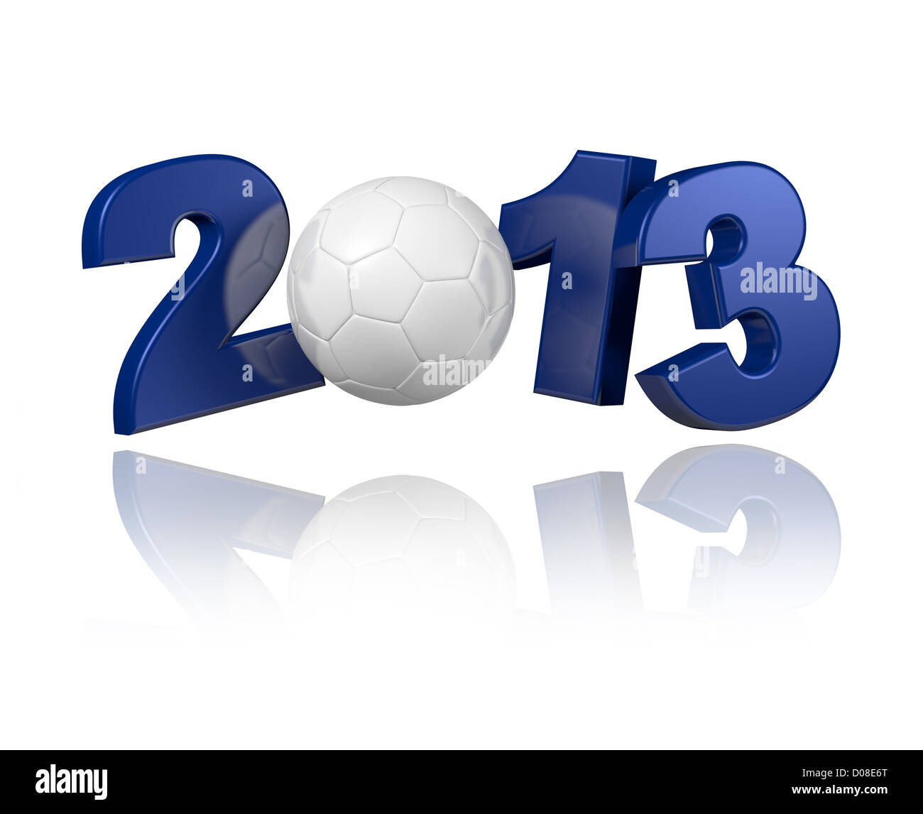 Handball 2013 design with a white background - Stock Image