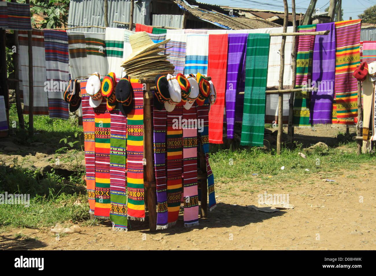 Ethiopia Lake Tana Zege Peninsula,local village - Stock Image