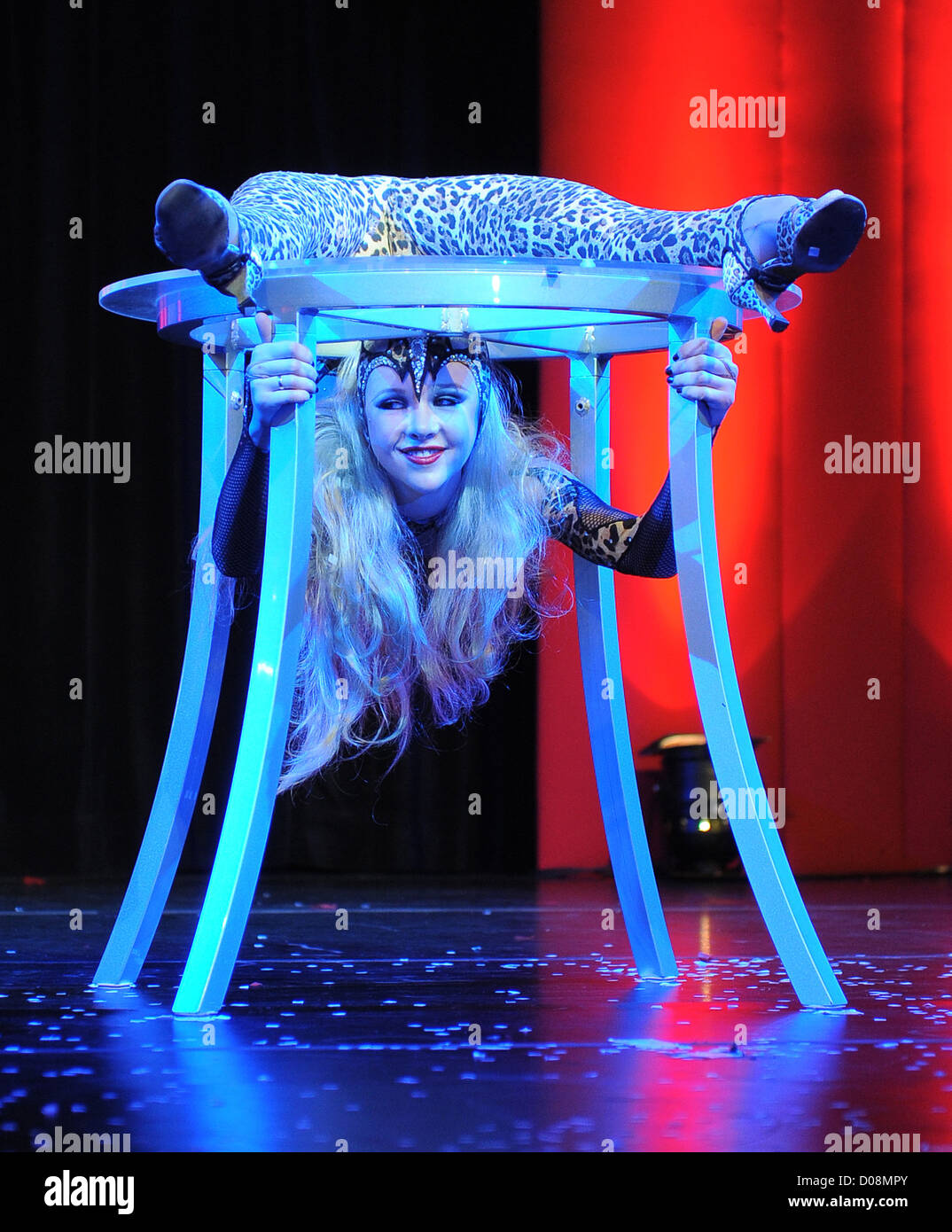 Zlata The Contortionist Performs On The Main Stage Erotica 2010 Held At Kensington Olympia London England