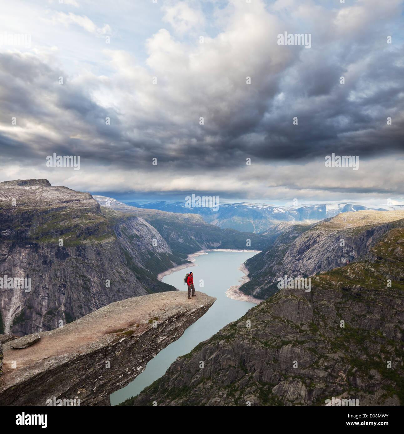 Trolltunga in Norway Stock Photo