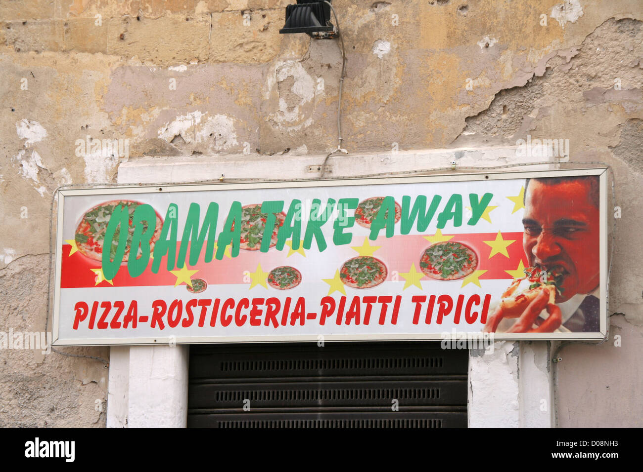 Obama take away food outlet in Puglia south Italy Stock Photo ...