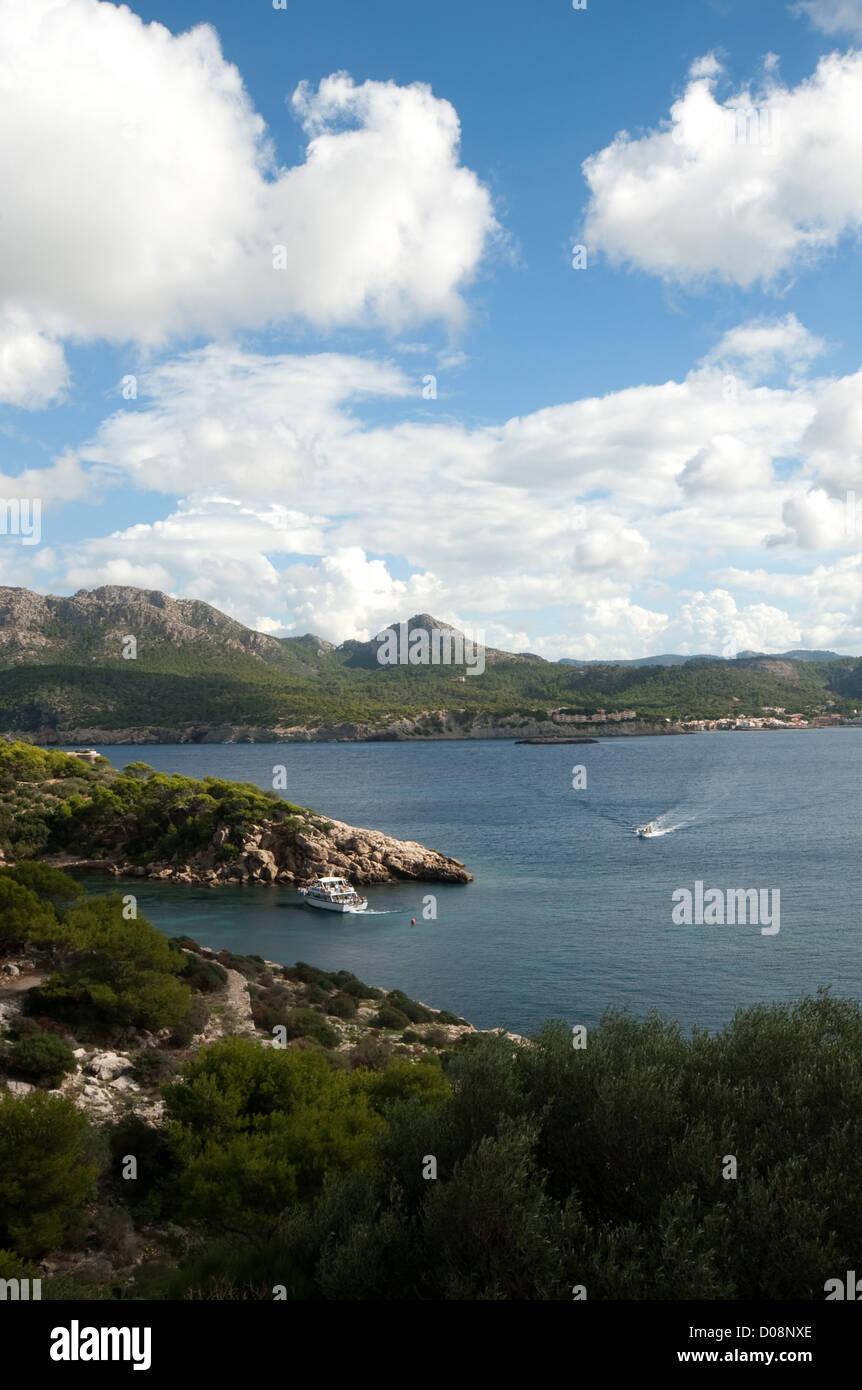 On Sa Dragonera, uninhabited rocky island off Majorca, pedestrian walkways, Balearic Islands, Spain, Europe - Stock Image