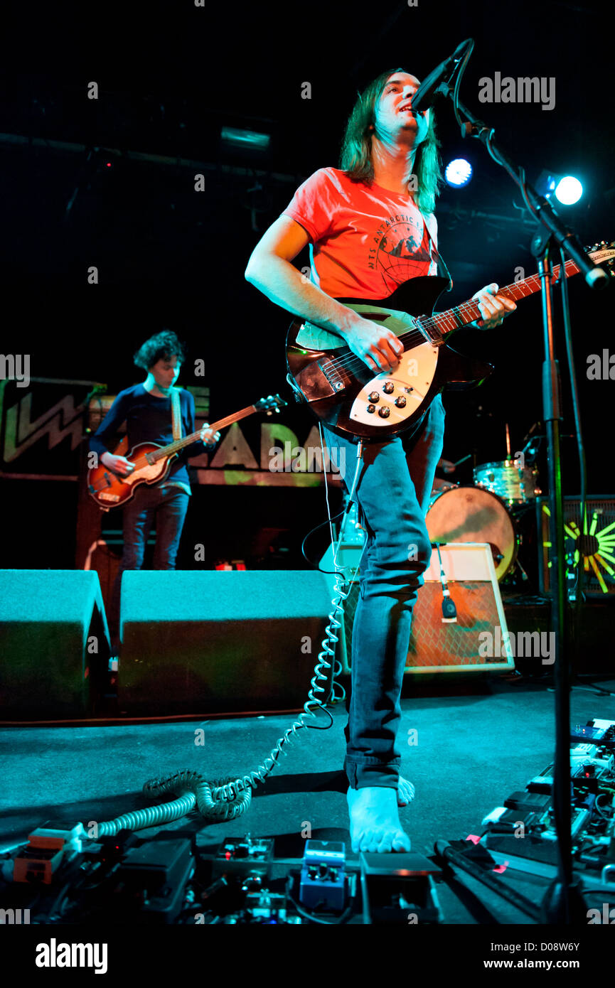 Australian indie band, Tame Impala in concert, with leader singer, Kevin Parker, The Leadmill. Sheffield, UK, Nov - Stock Image