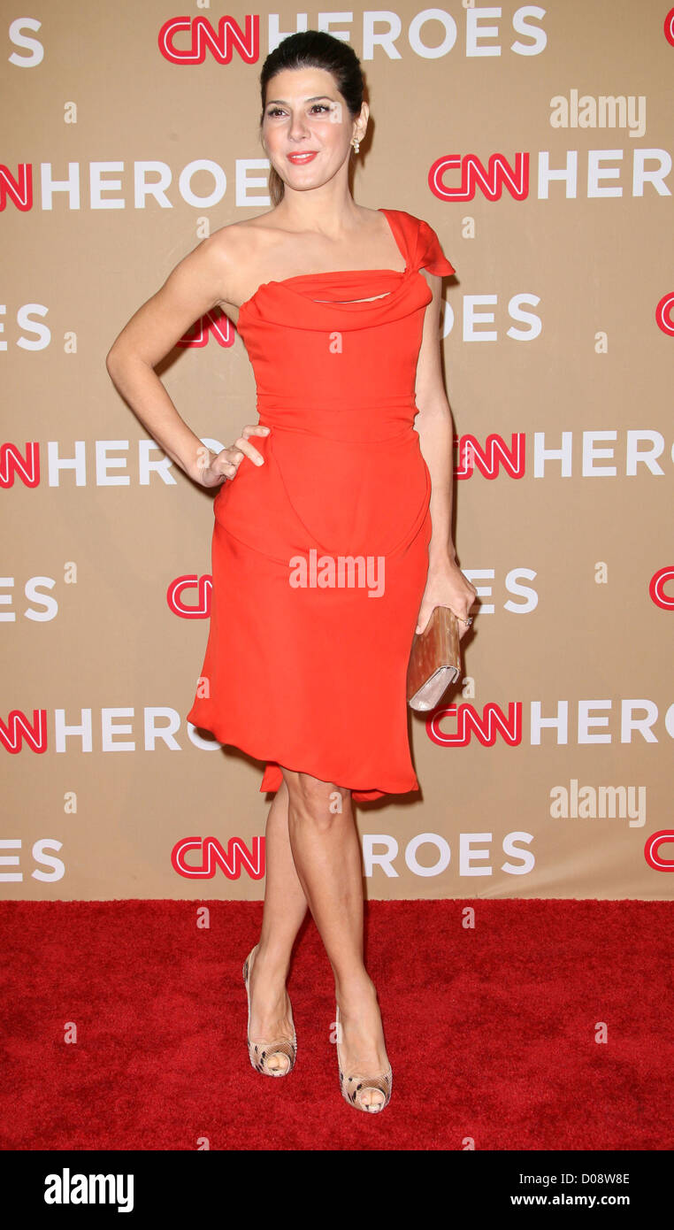 Marisa Tomei  CNN Heroes: An All-Star Tribute held at the Shrine Auditorium - Arrivals Los Angeles, California - Stock Image