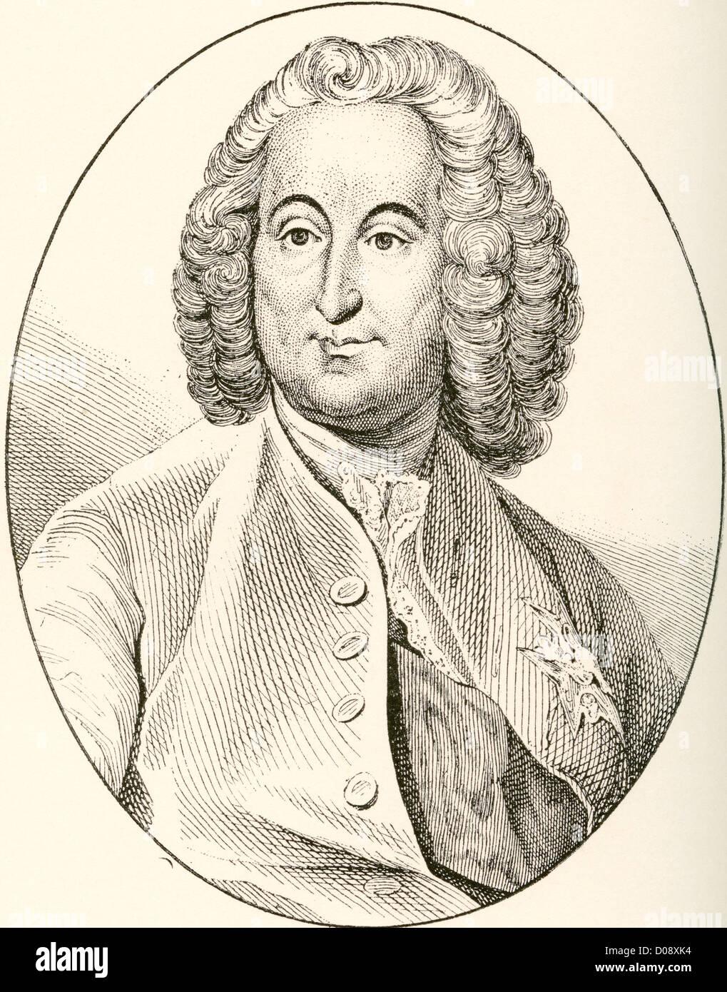 Antoine-Louis Rouillé, comte de Jouy-en-Josas, 1689–1761. French statesman. - Stock Image