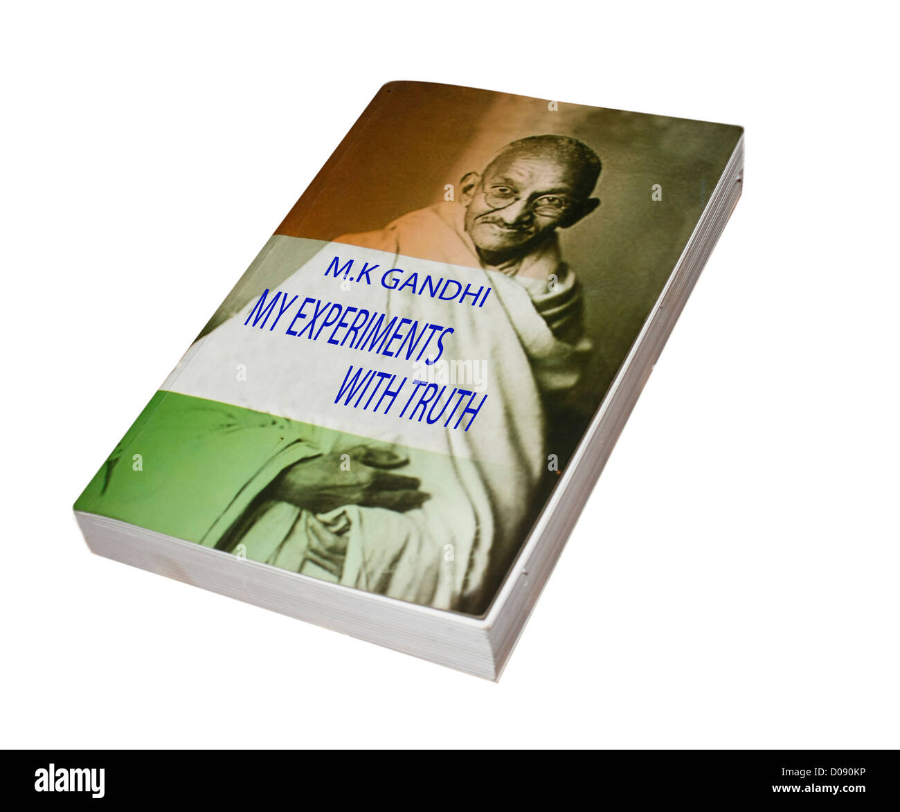 A book written by Mahatma Gandhi, Father of the Nation , India - Stock Image