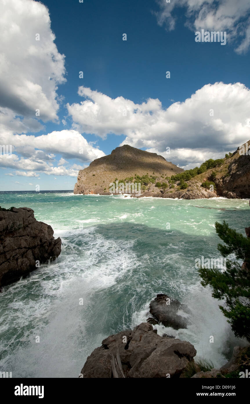 Platja de Torrent de Pareis, Sa Calobra, Mallorca (Majorca), Balearic Islands, Spain, Mediterranean, Europe - Stock Image