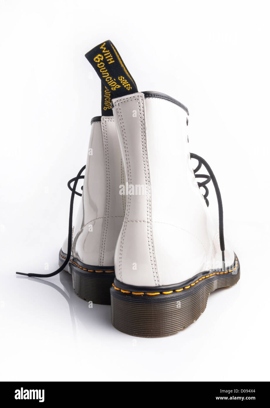 Doc marten boots stock photos doc marten boots stock images alamy heal detail of white patent leather doc marten boots on white background phillip roberts mightylinksfo