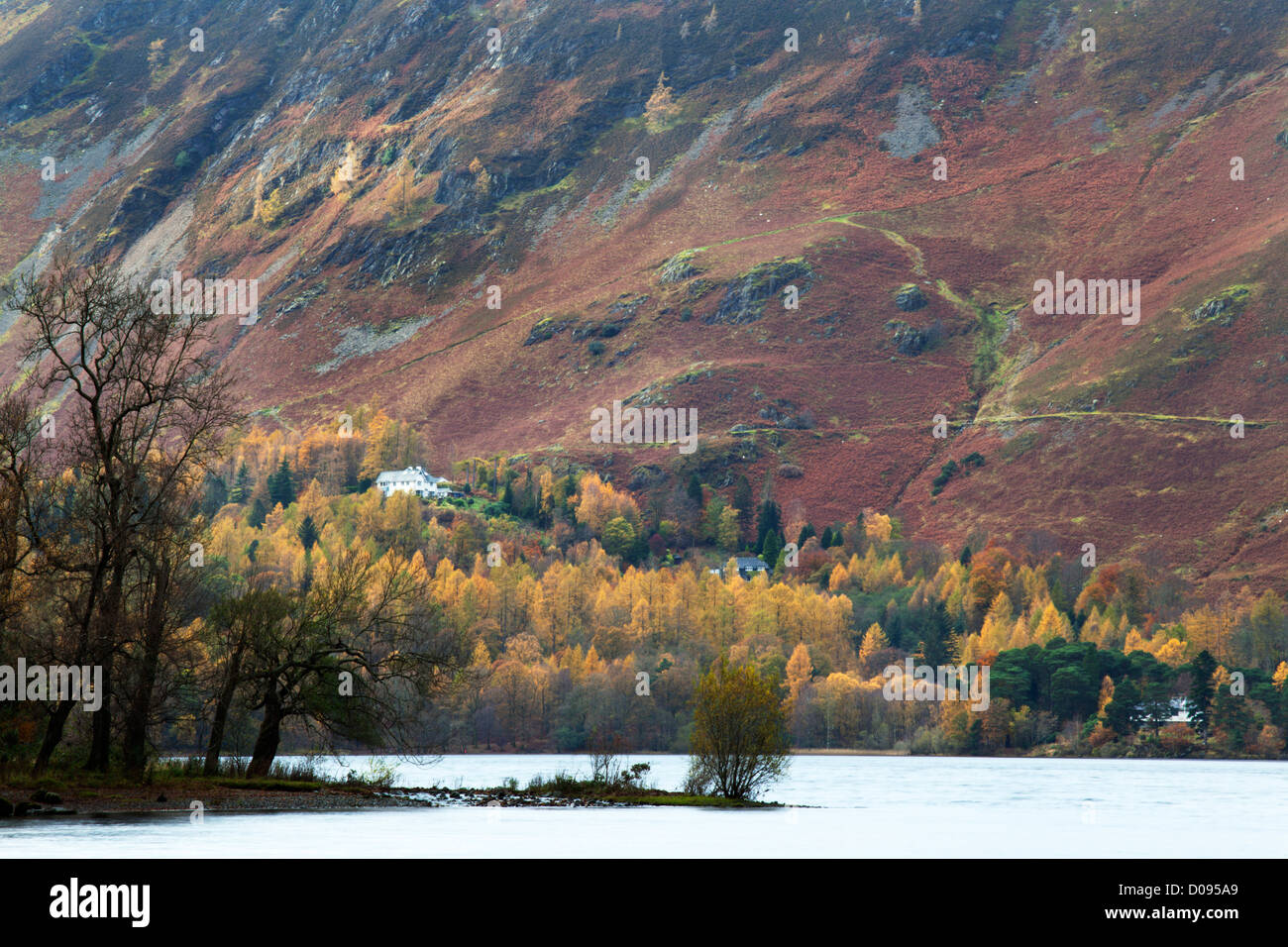 Derwentwater and the Slopes of Catbells in the Lake District Cumbria England - Stock Image