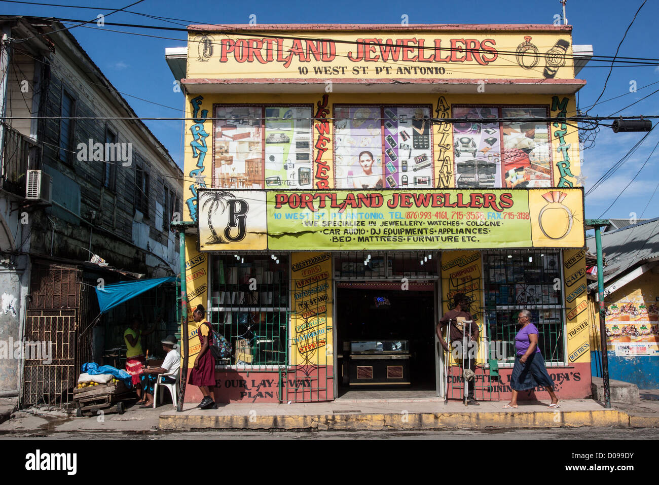 Colourful Shop Front Of A Jeweler S In The Town Centre Of Port Stock Photo 51836119 Alamy
