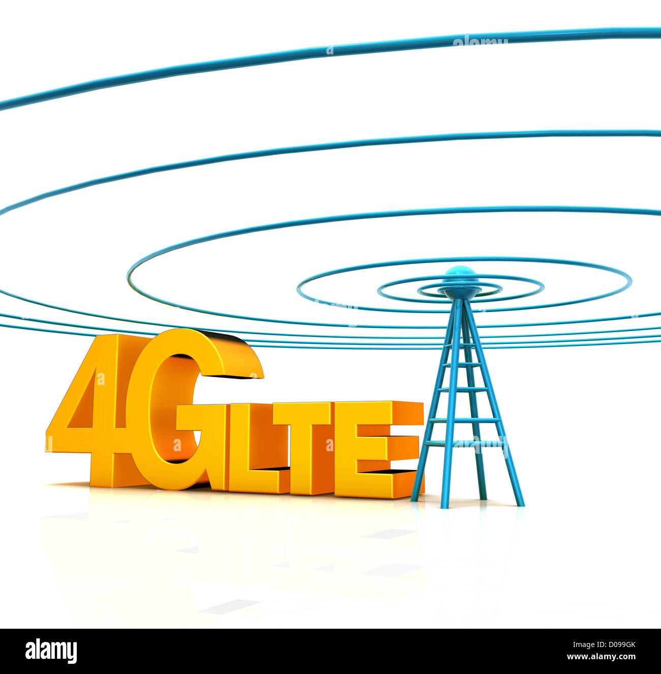 Mobile antenna. Communication concept and 4g Wireless Technology. - Stock Image