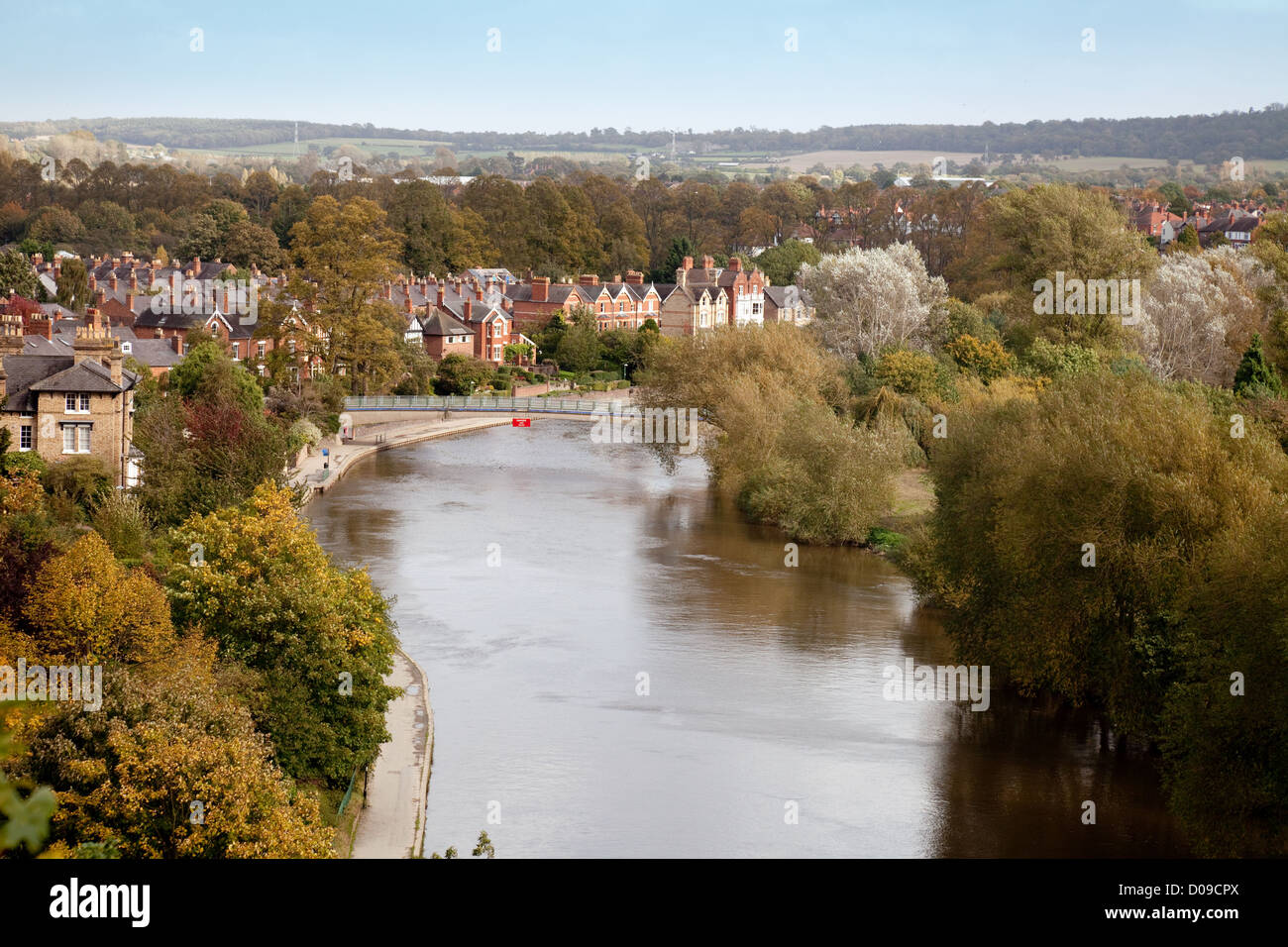 The River Severn at Shrewsbury, Shropshire England UK - Stock Image