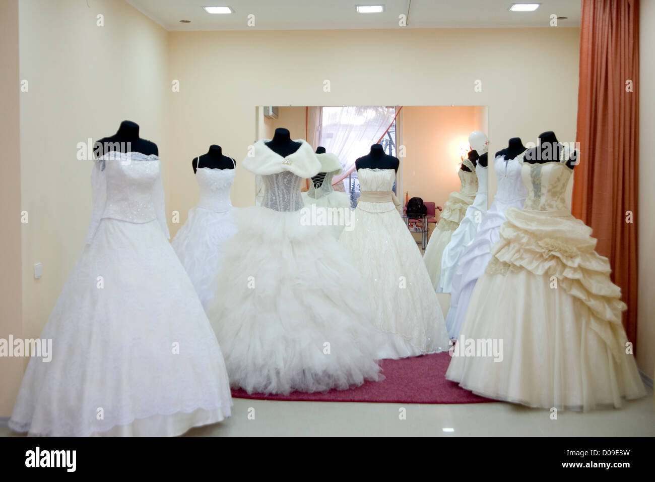 Shop window with wedding dresses on mannequins Stock Photo: 51839757 ...