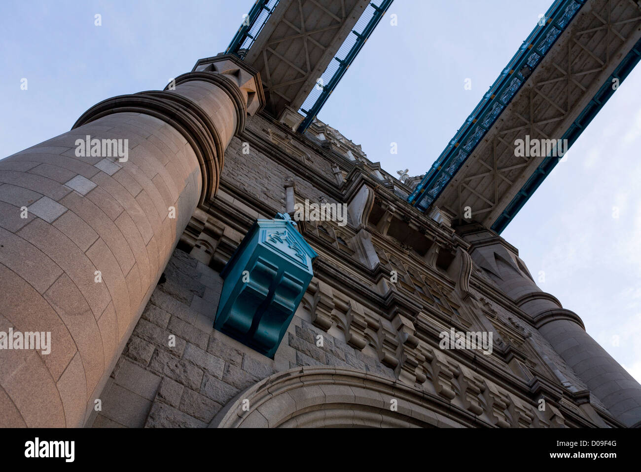 Structural details of the Tower Bridge, London - Stock Image