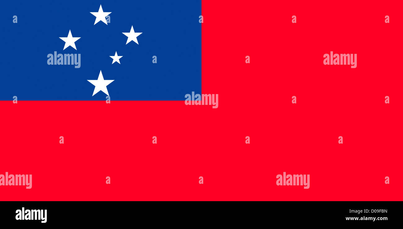 Flag of the Independent State of Samoa. - Stock Image