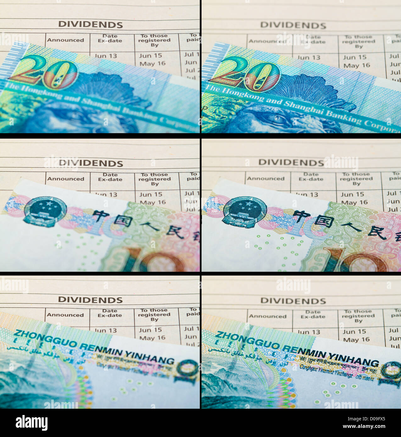Dividend payout announcement.Concept of return on investment. - Stock Image
