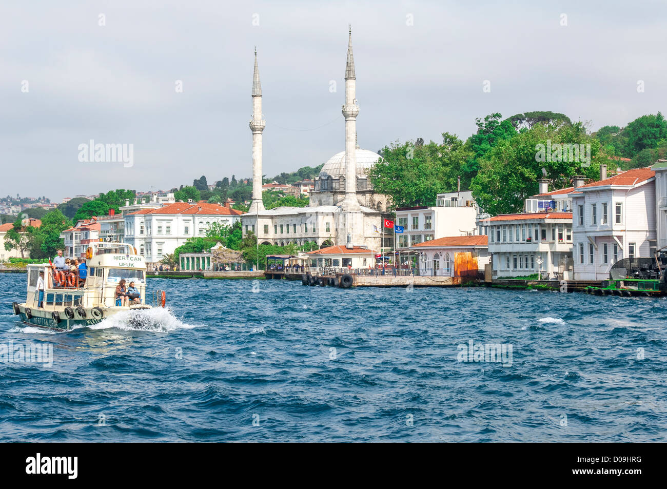 Mihrimah Sultan Mosque or Iskele Mosque, Uskudar, Istanbul, Turkey - Stock Image