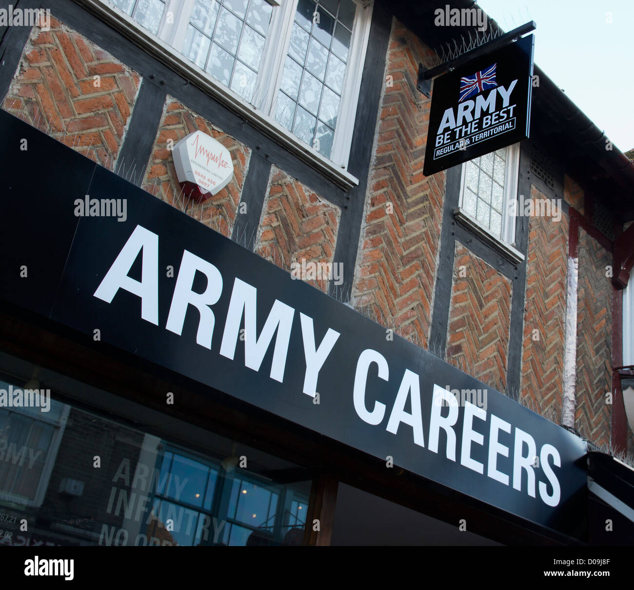 Army Careers Office Canterbury England Be the Best Stock Photo