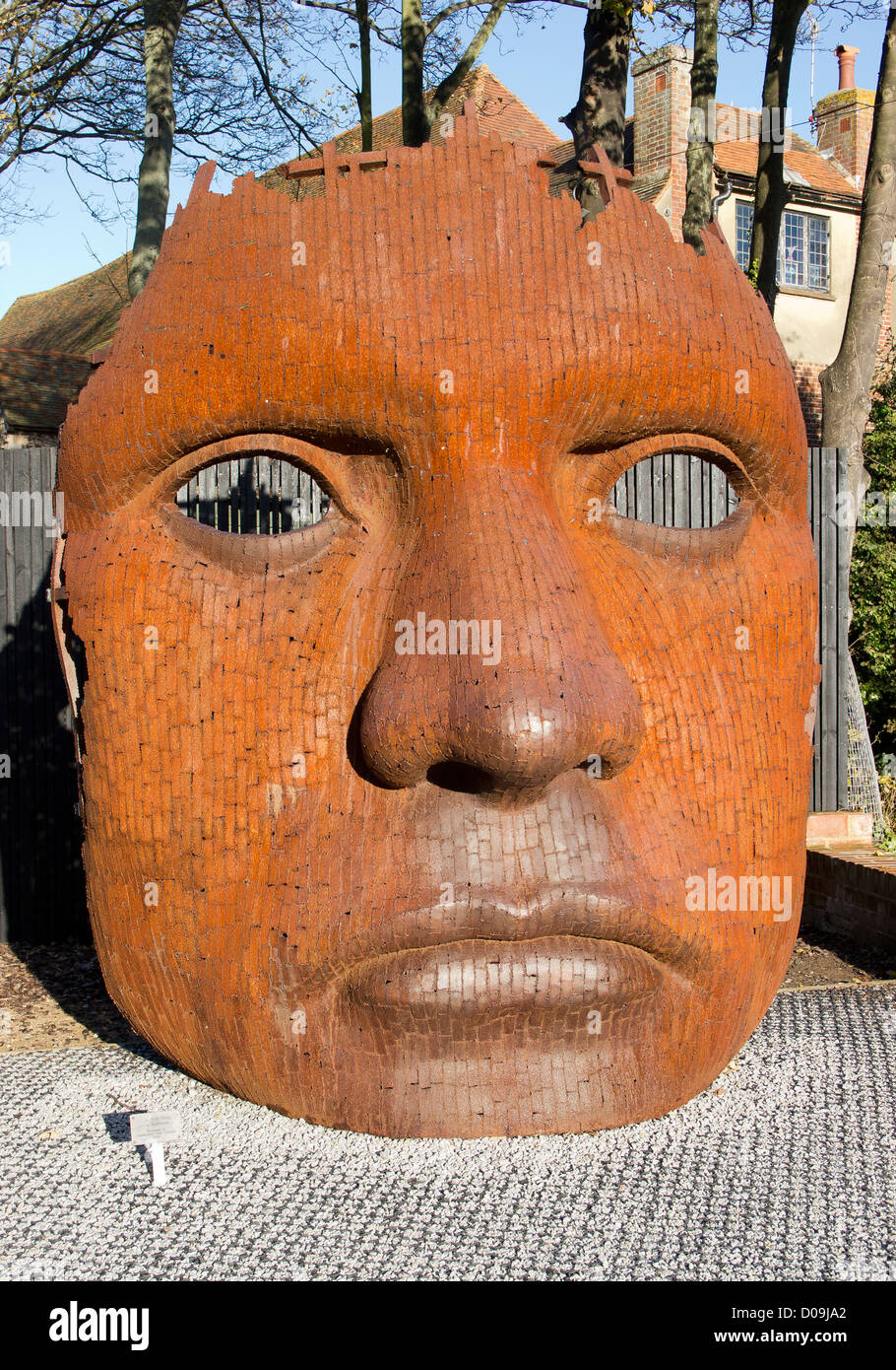 Bulk Head by Rick Kirby Sculpture outside The New Marlowe Theatre Canterbury England - Stock Image
