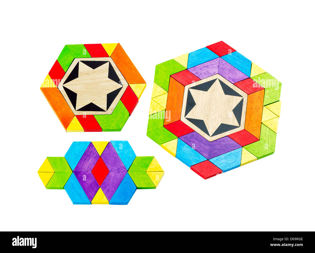 Colorful wooden toy let's children play and great there imagines - Stock Image