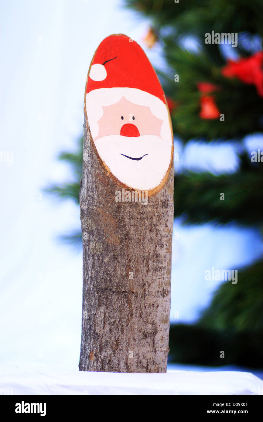 Traditional Bavarian Christmas decoration -  Baumstamm Nikolaus - Stock Image