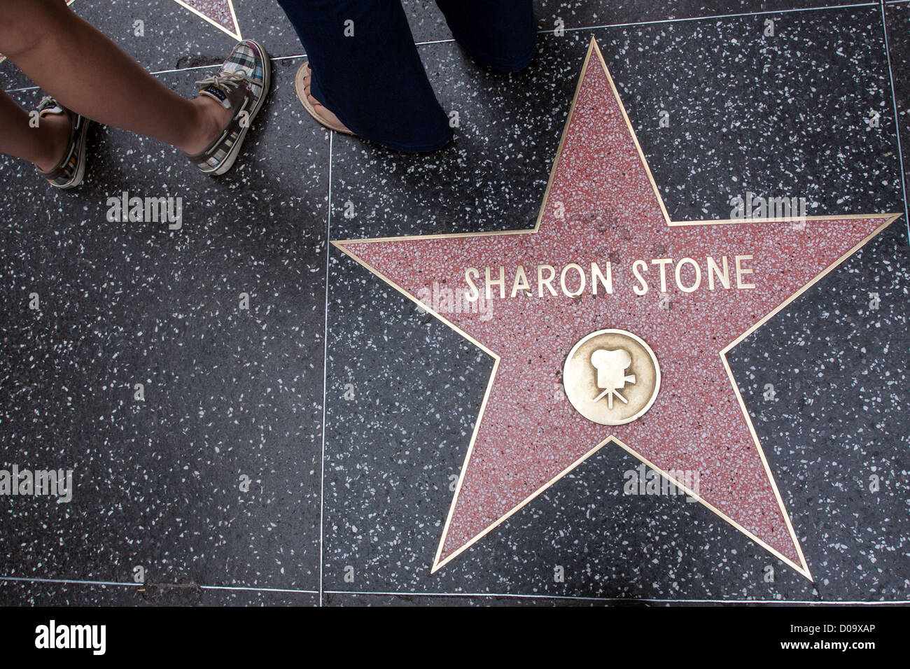 hollywood walk of fame star stock photos hollywood walk of fame star stock images alamy. Black Bedroom Furniture Sets. Home Design Ideas