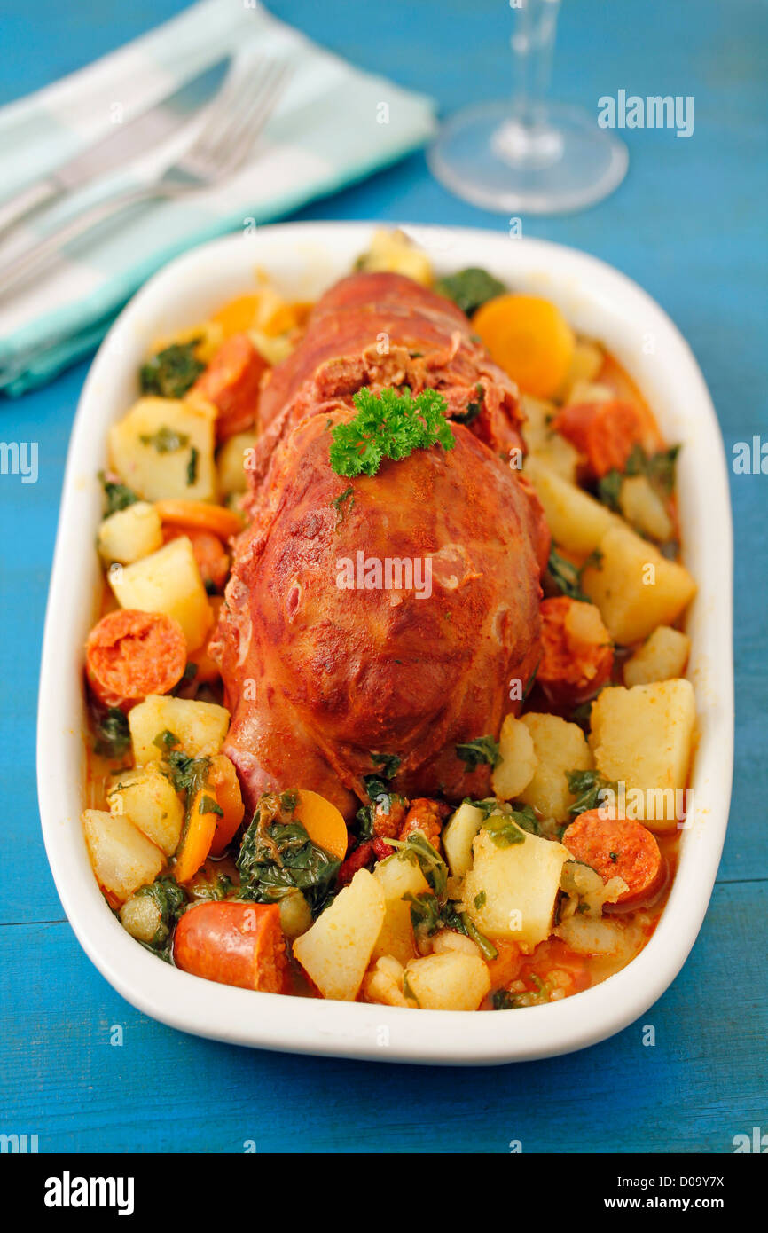 'Botillo del Bierzo' Typical Spanish meal from Leon province. Recipe available. - Stock Image
