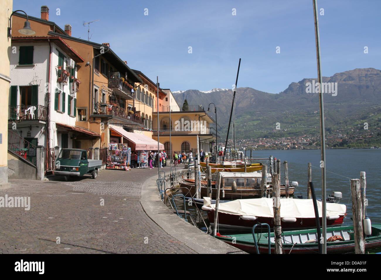 Monteisola island on Lago d'Iseo, Italy - Stock Image
