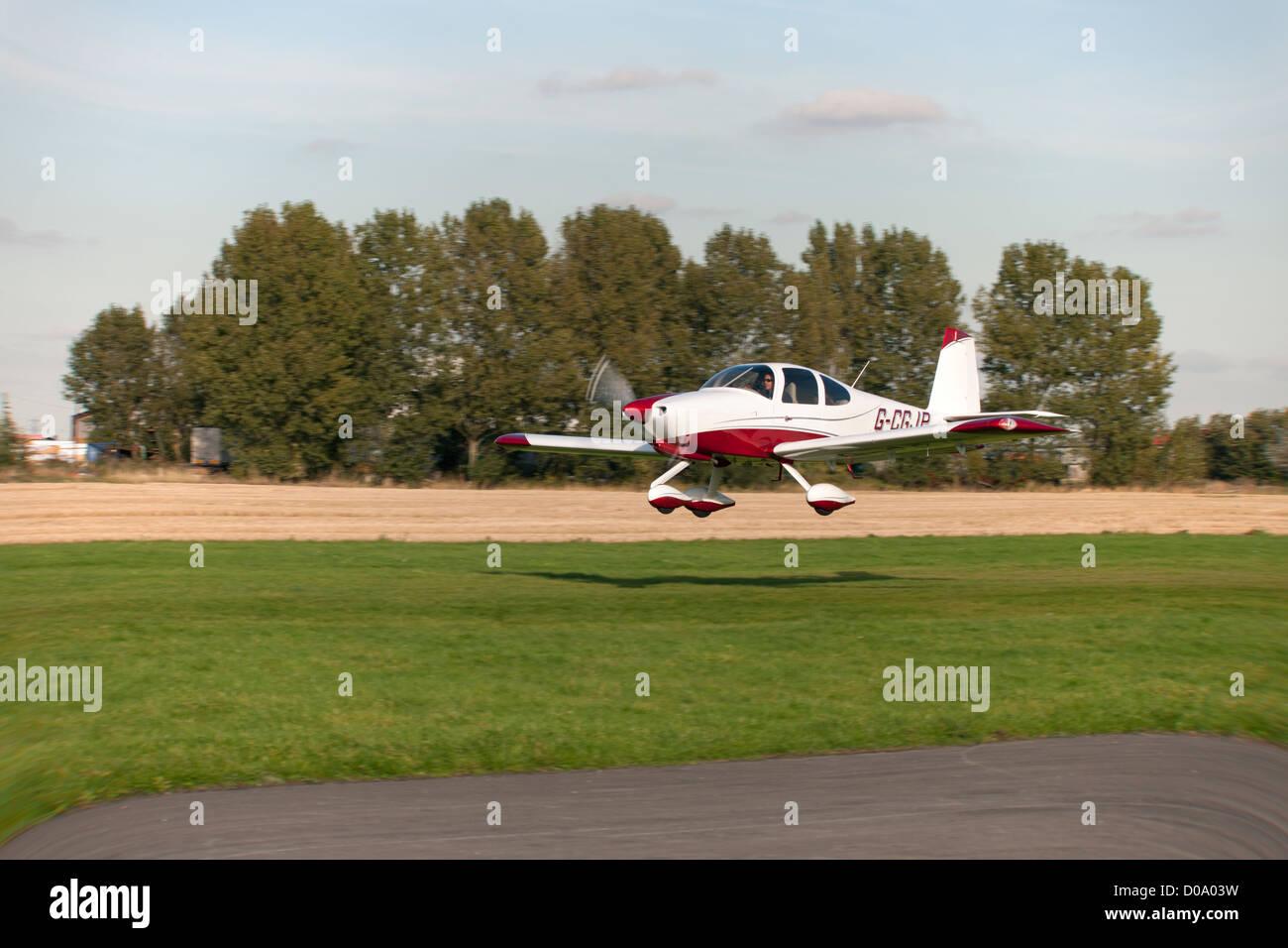 Vans RV-10 G-CGJP low level flight along runway at Breighton