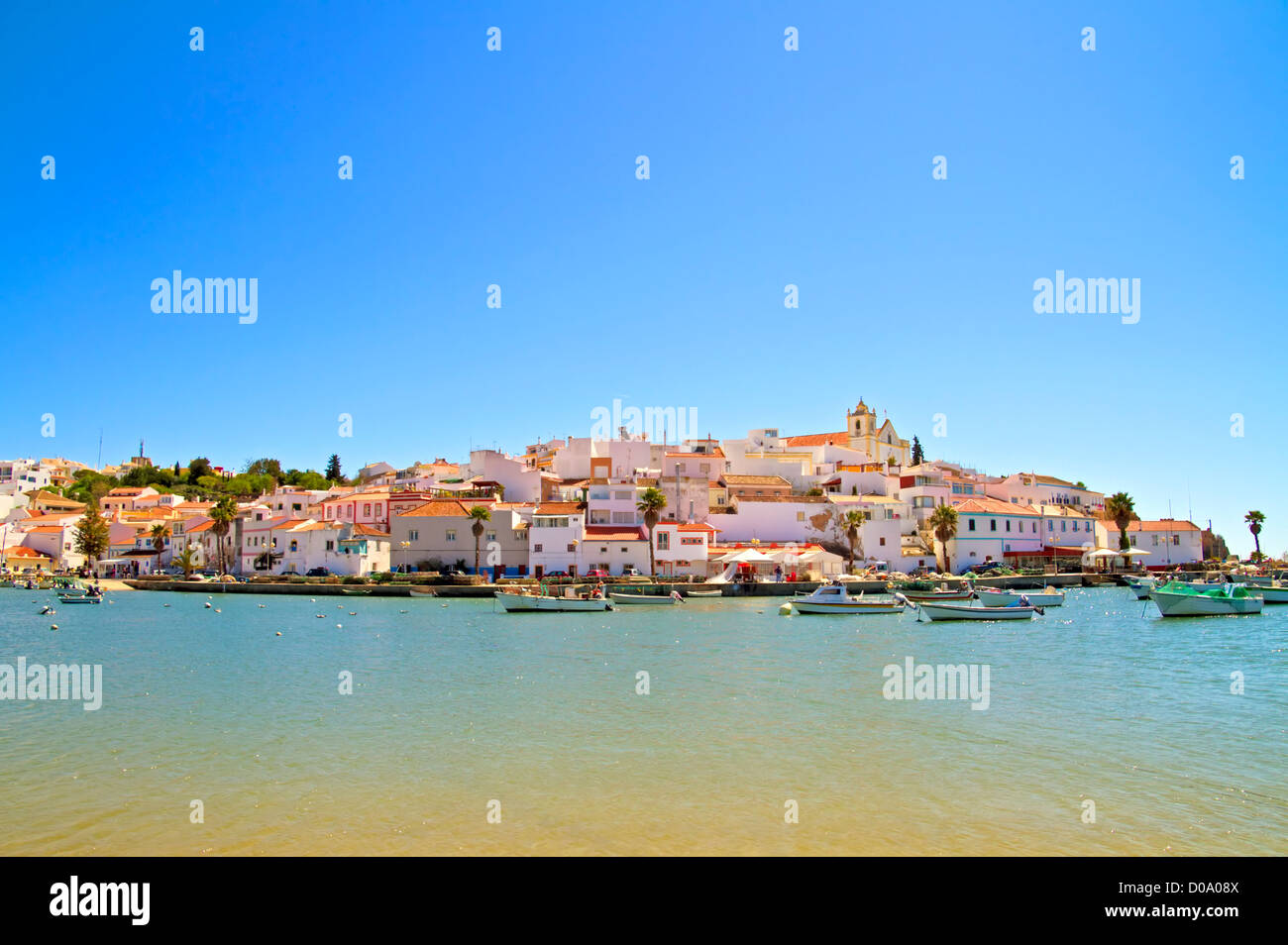 The village Ferragudo in the Algarve Portugal - Stock Image