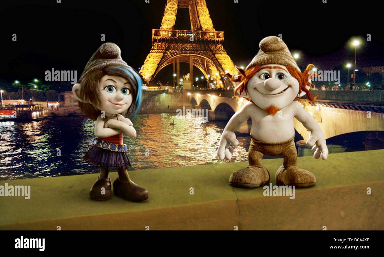 The Smurfs 2 2013 Columbia Pictures Animation With Vexy At Left And Stock Photo Alamy