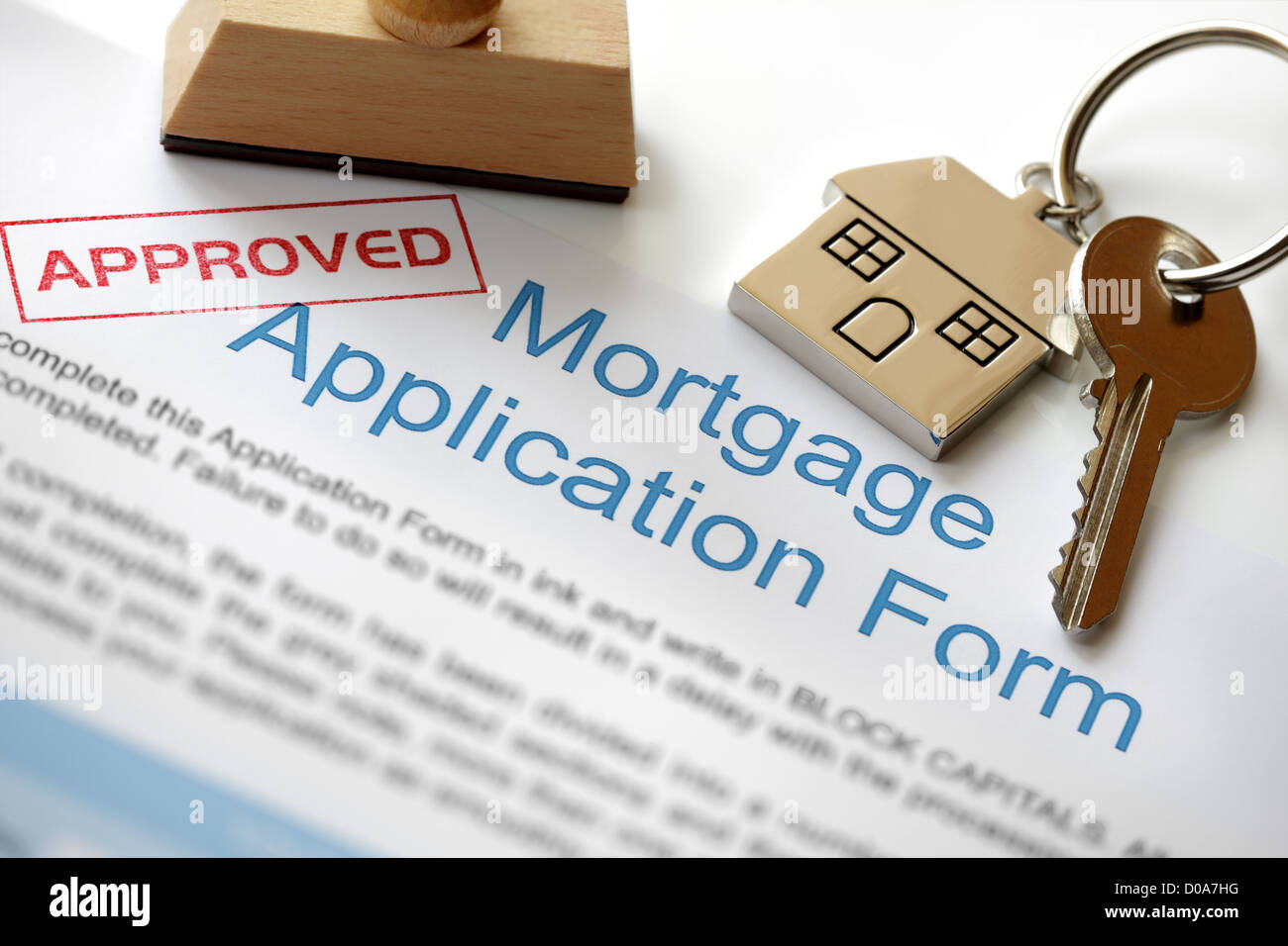 Approved mortgage application - Stock Image