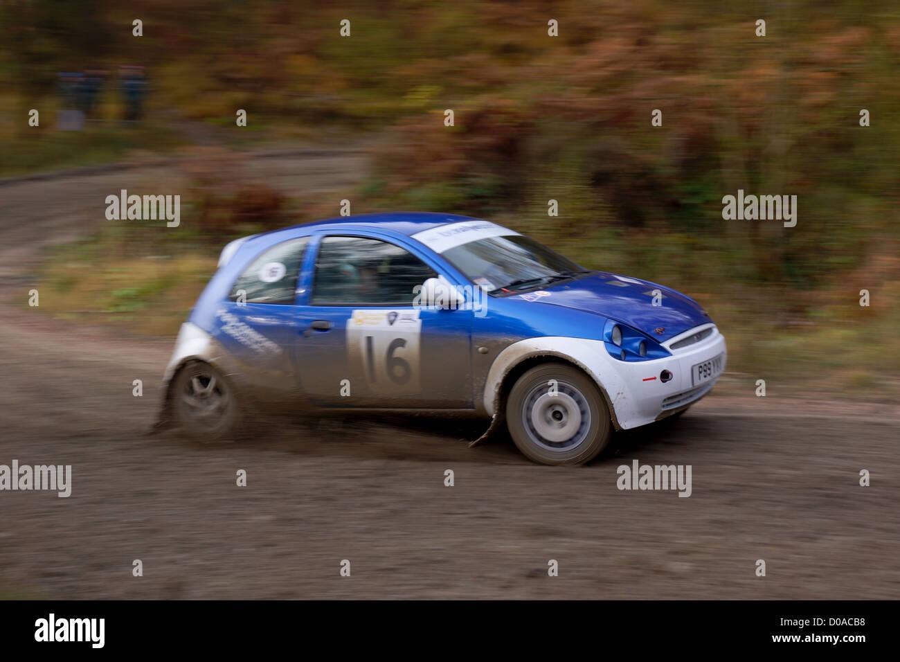 Malton Forest Rally November  Cropton Stage Stock Image