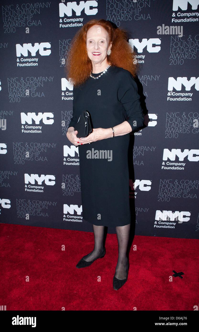Grace Coddington (Creative Director, Vogue Magazine ) The Leadership Awards gala 2010 held at the Plaza hotel New - Stock Image