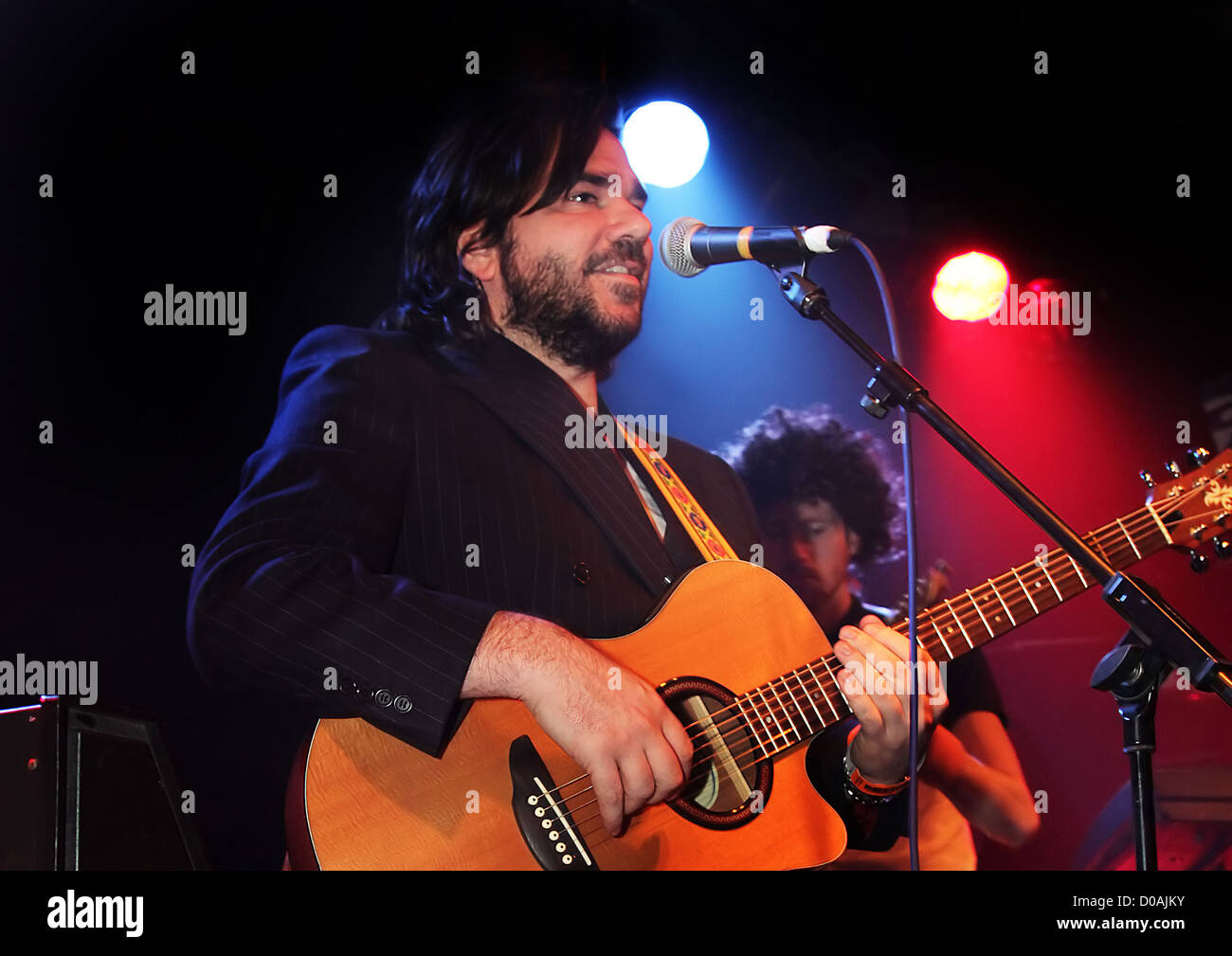 Matt Berry of Mighty Boosh and IT Crowd fame performing at Liverpool Masque Liverpool, England - 23.11.10 - Stock Image