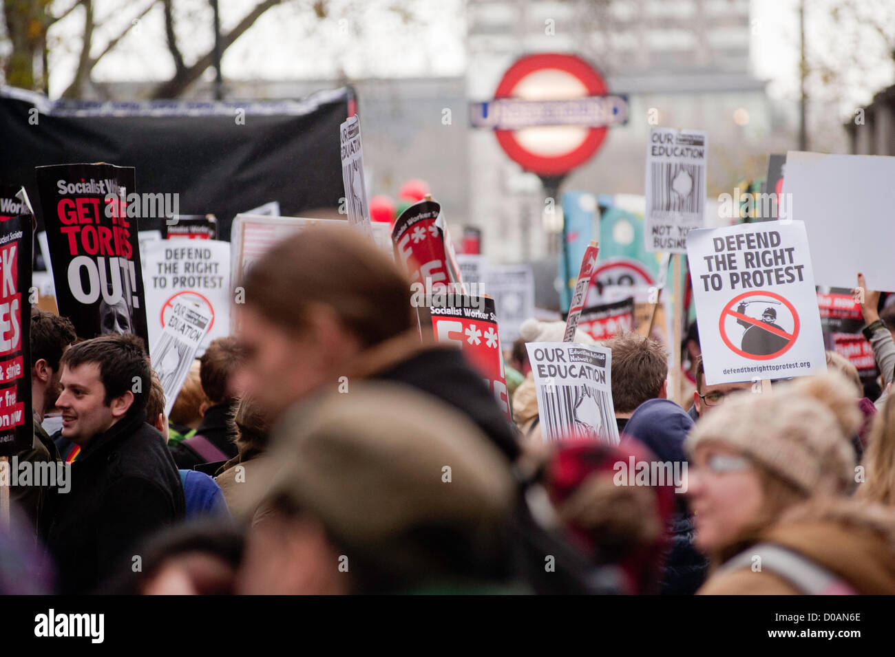 London, UK - 21 November 2012: thousand of students take part in a march organised by the National Union of Students - Stock Image
