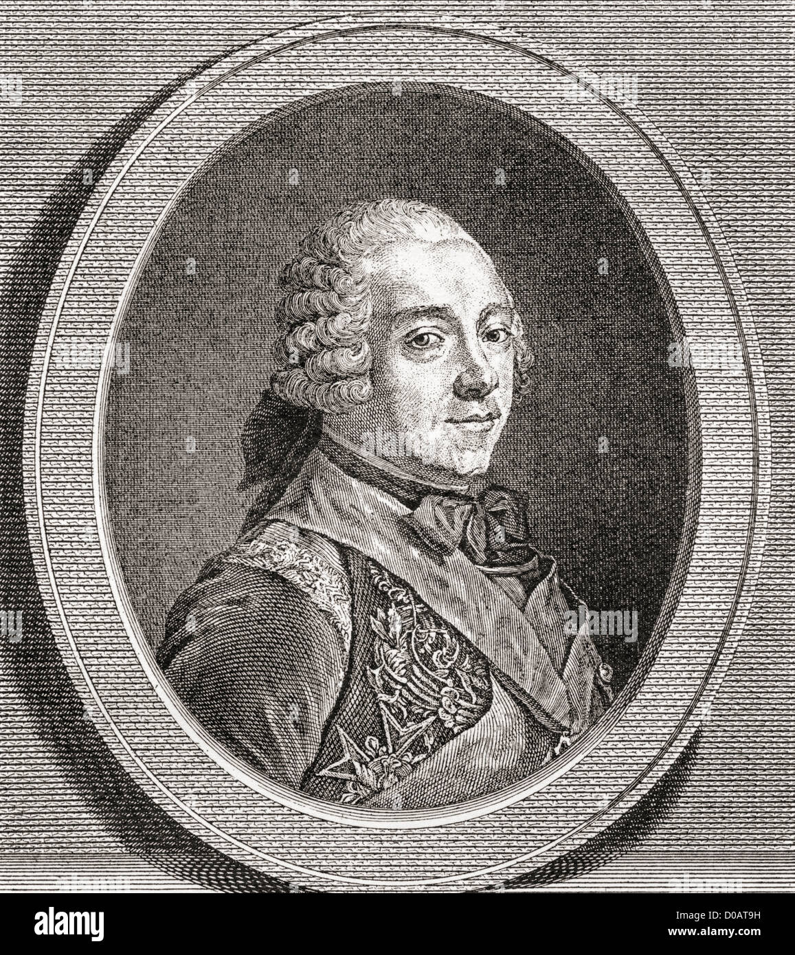 Charles Louis Auguste Fouquet, duc de Belle-Isle, 1684 –1761. French general and statesman. - Stock Image
