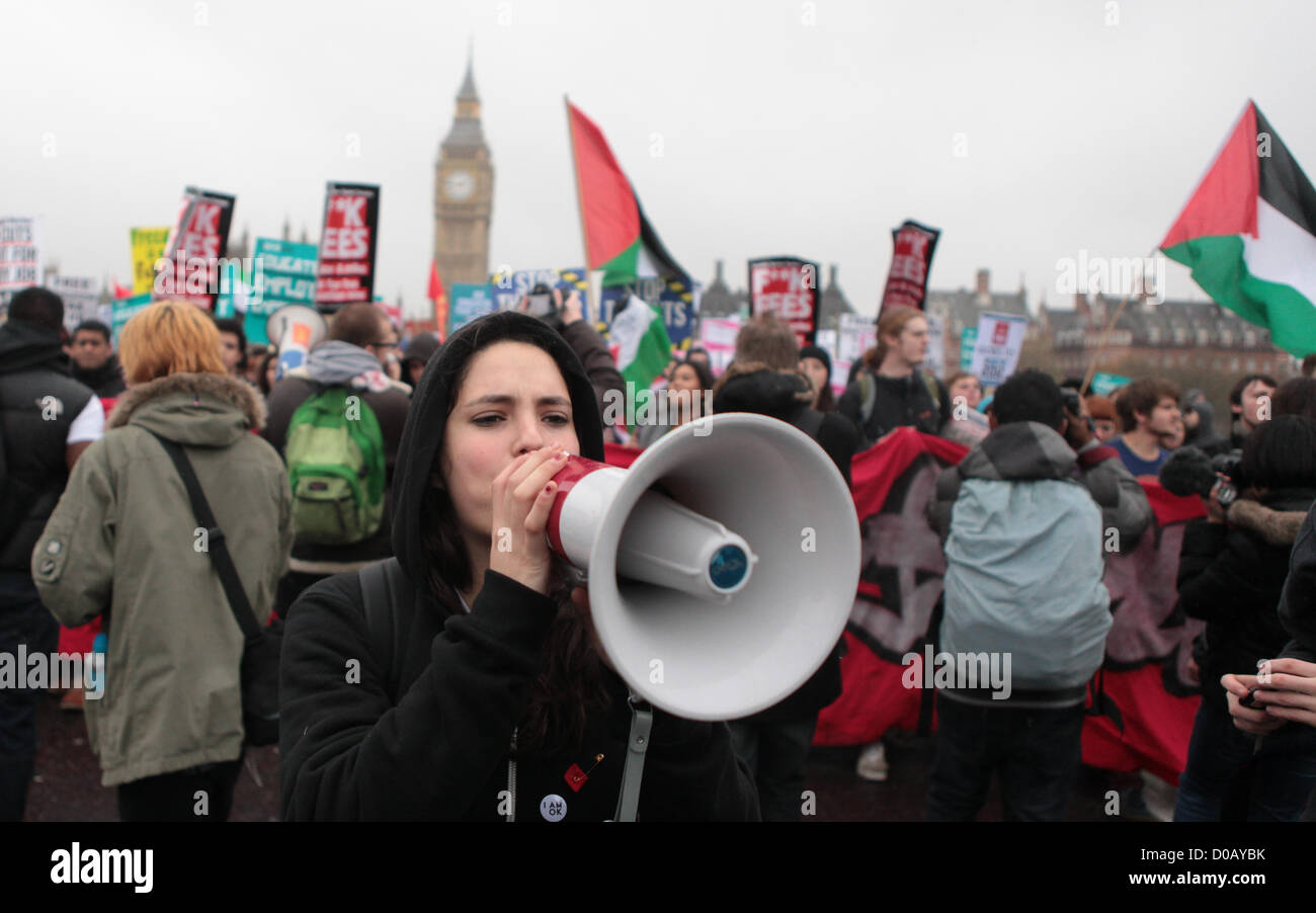 London, UK. 21 November 2012. Thousands of students marched through central London today under the slogan of 'educate, - Stock Image