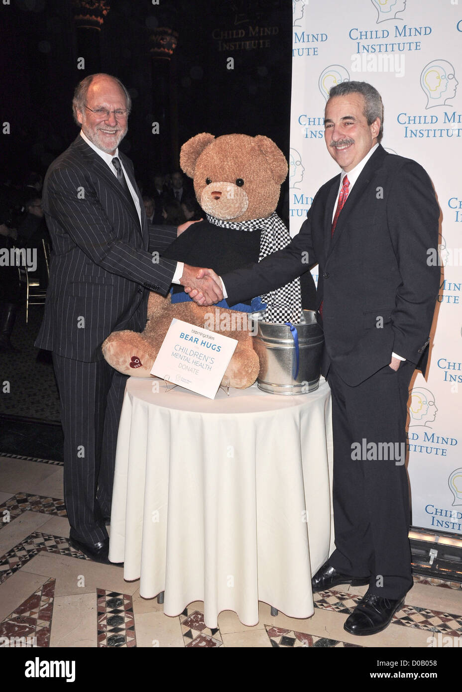 John Corzine and Harold S. Koplewicz M.D. First Annual Child Mind Institute Awards Gala - Arrivals New York City, - Stock Image