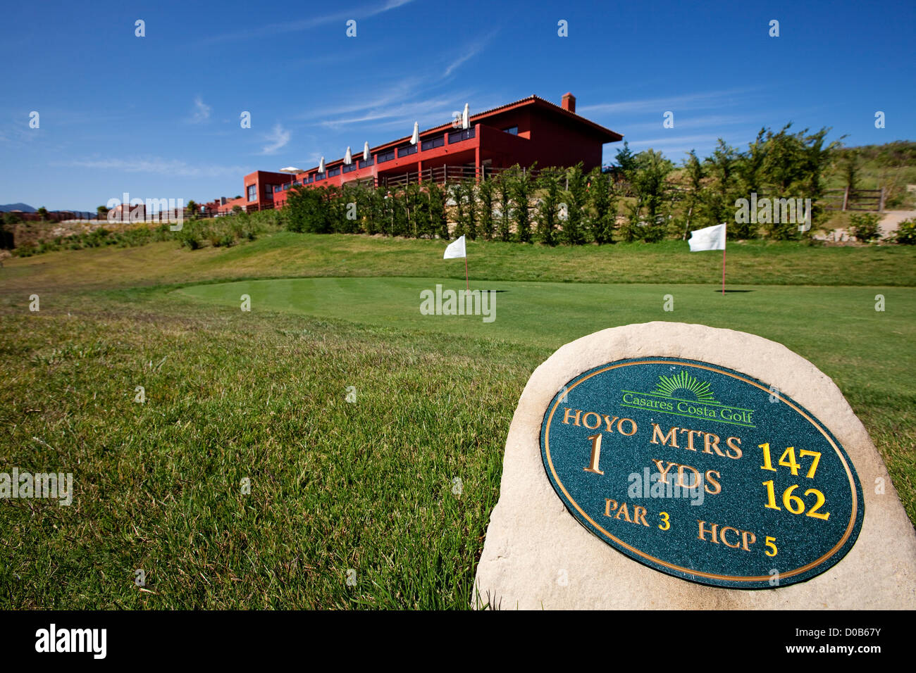 Casares Golf Club Costa del Sol Malaga Andalusia Spain Stock Photo