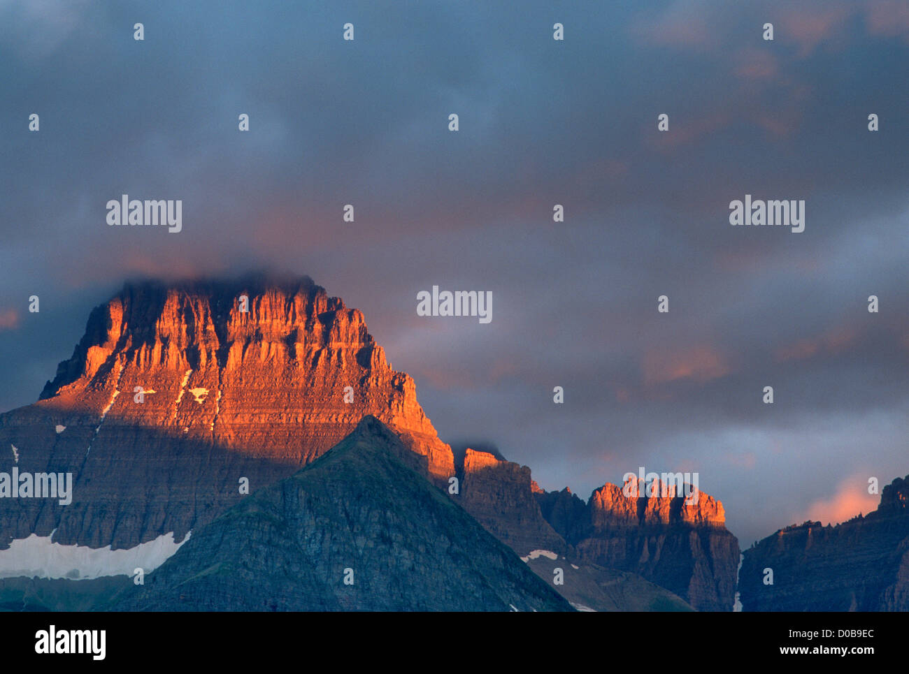 mt grinnell glacier national park montana stock photo 51880036