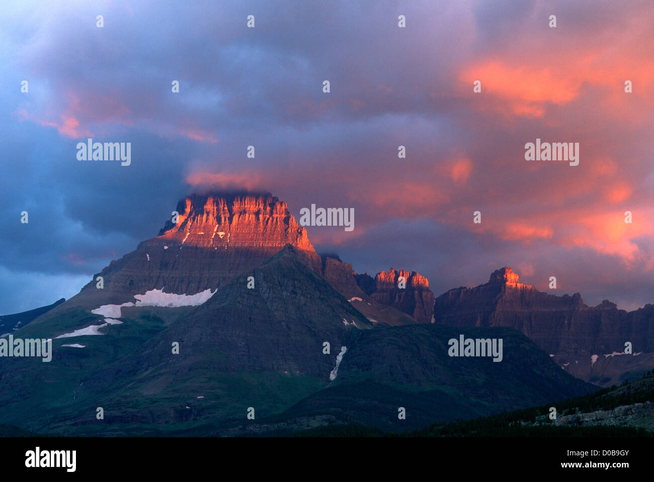 mt grinnell glacier national park montana stock photo 51880107