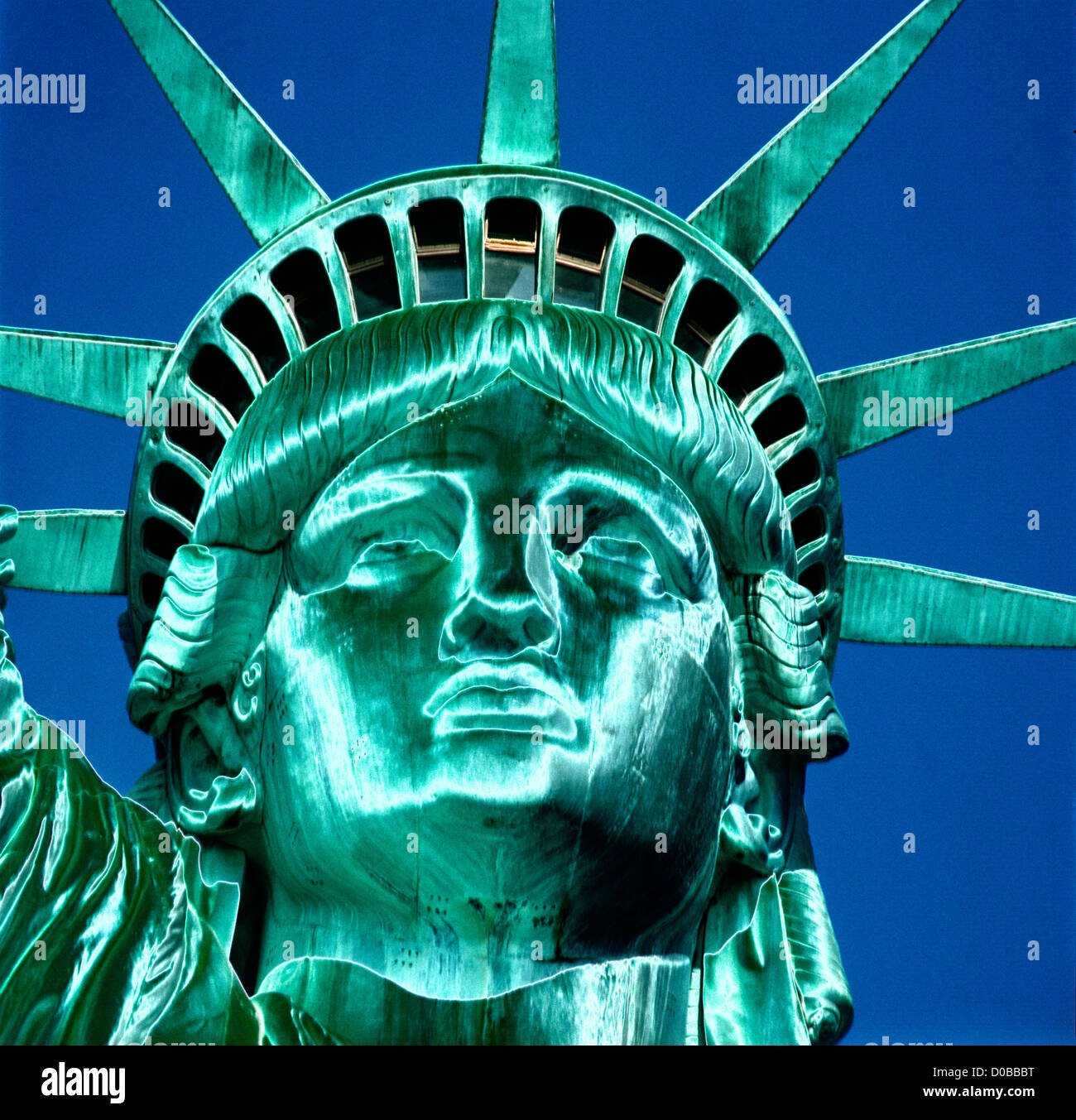 abstract rendition of Statue of Liberty USA concept - Stock Image