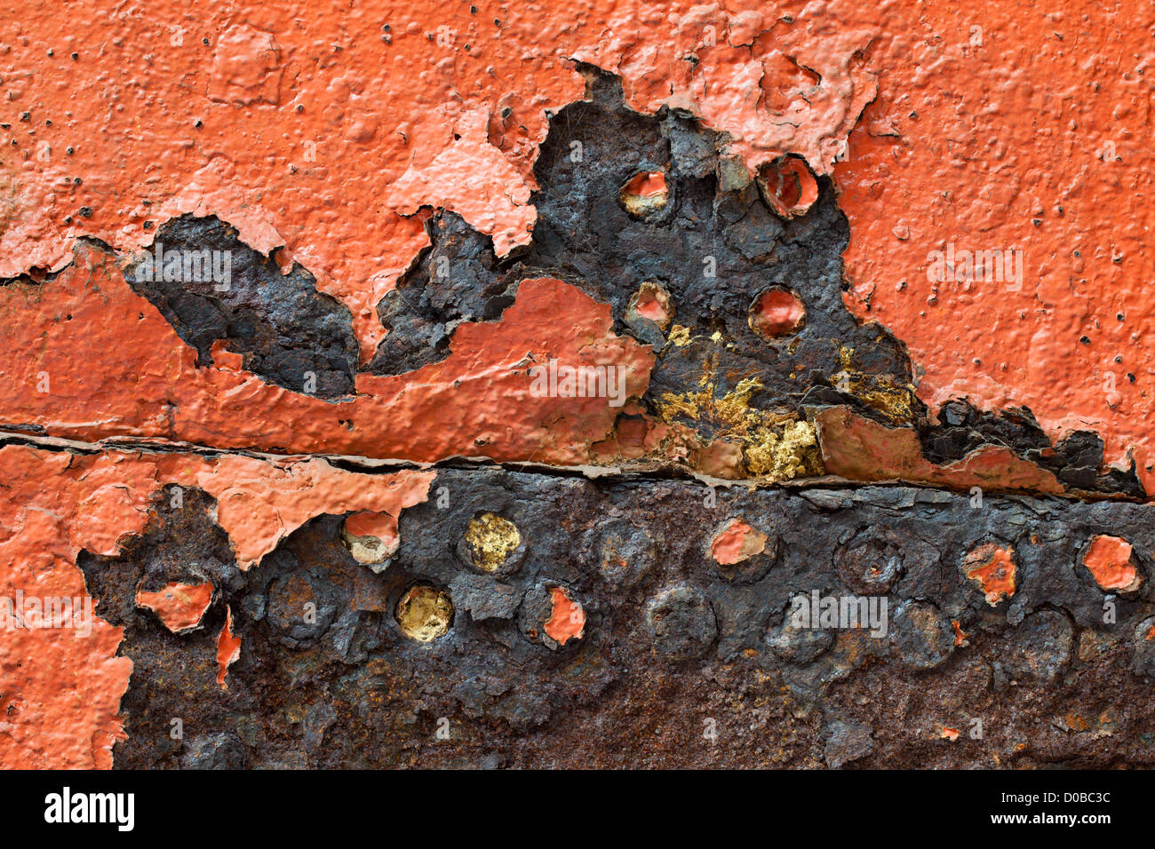 The rusting iron hull of the SS Great Britain,dry dock in Bristol, England - Stock Image