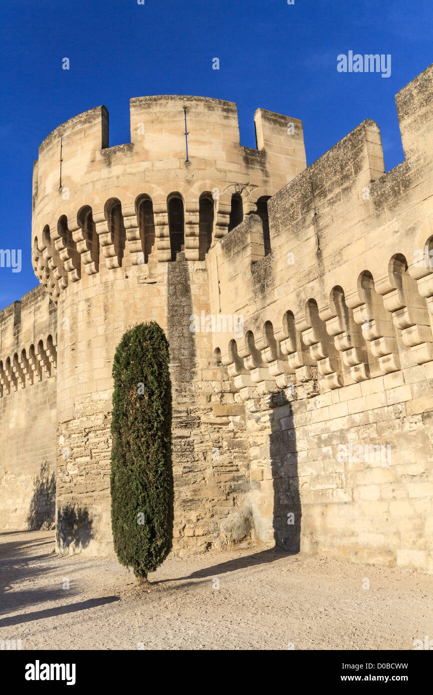 Avignon Medieval City Wall / Fortifications, Provence, France - Stock Image
